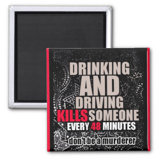 Anti-Bebiendo y conduciendo el imán