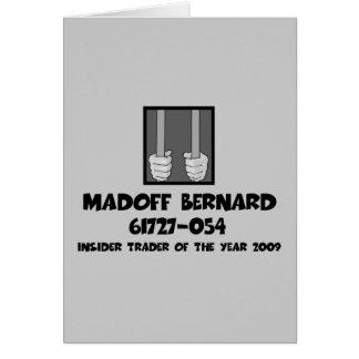 Anti Bernard Madoff jail Card