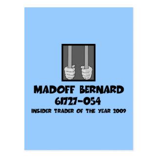 Anti Bernard Madoff jail Postcard