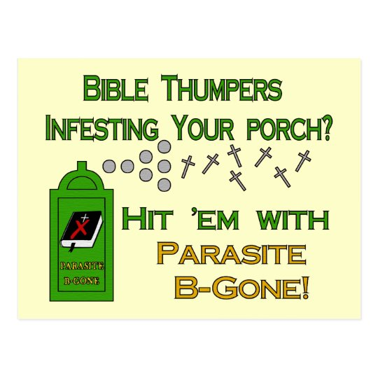 Anti-Bible Thumpers Postcard