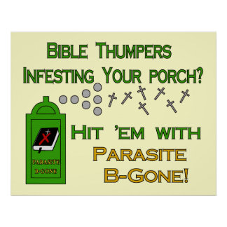 Anti-Bible Thumpers Poster