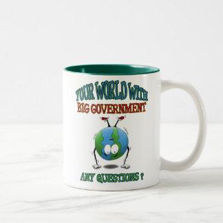 Anti-Big Government mugs: Your World Two-Tone Coffee Mug