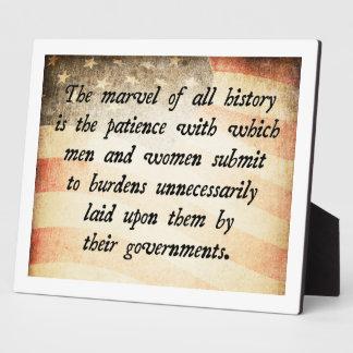 Anti-Big Government Plaque