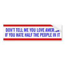 Anti-bigotry bumper sticker