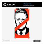 ANTI- BILL CLINTON DECAL FOR iPhone 4S