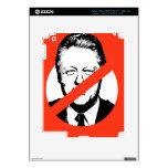 ANTI- BILL CLINTON iPad 3 DECAL