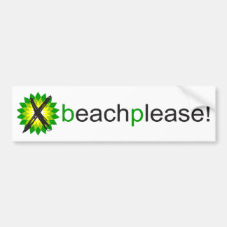 Anti-BP Beach Please Bumper Sticker