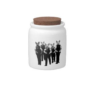 Anti British police Candy Jar