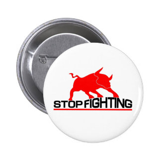Anti Bullfighting Pinback Buttons