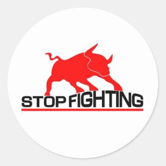 Anti Bullfighting Classic Round Sticker