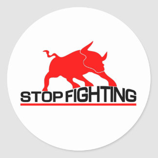 Anti Bullfighting Round Sticker