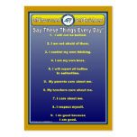Anti-Bully Daily Affirmations Handy Wallet Card Business Cards