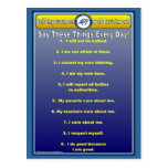 Anti-Bully Daily Affirmations Postcard
