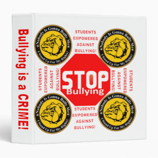 Anti-Bully School Binder Pick Your Own Color
