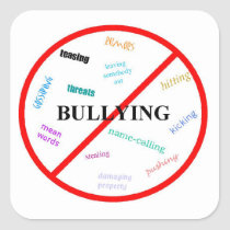 Anti Bully Square Sticker