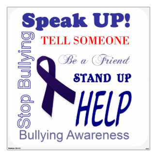 Anti Bullying Awareness Wall Decal