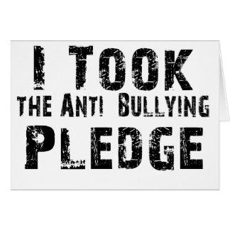 Anti Bullying Pledge Card