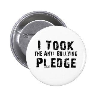 Anti Bullying Pledge Pinback Button