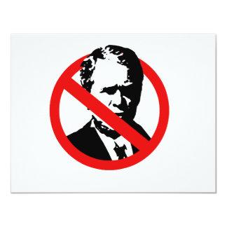 """Anti-Bush (2) Invitación 4.25"""" X 5.5"""""""