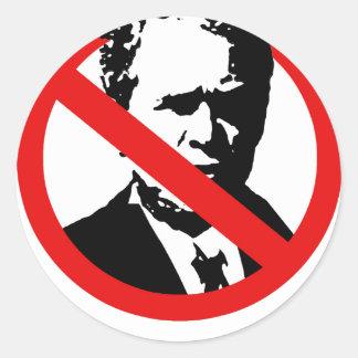 Anti-Bush (2) Pegatinas Redondas