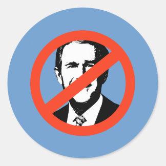 ANTI-BUSH - Anti-George W Bush Pegatina Redonda
