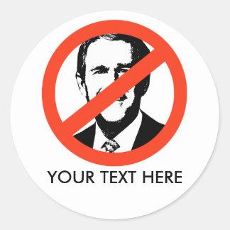 ANTI-BUSH - Anti-George W Bush Etiquetas