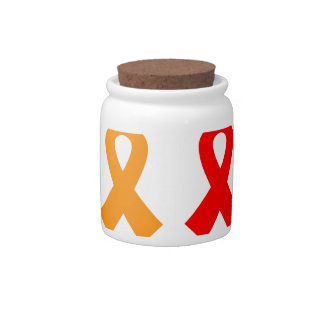 Anti cancer ribbons colorful edition candy dishes