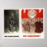 Anti-capitalismo 1948 de URSS Unión Soviética Poster