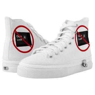 Anti Caps Lock Hi-Tops Printed Shoes