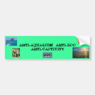 ANTI-CAPTIVITY PARA LA FAUNA PEGATINA DE PARACHOQUE