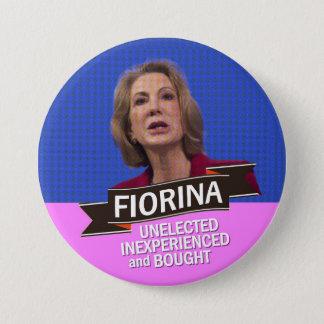 anti-Carly Fiorina for President Pinback Button