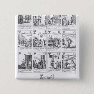 Anti-catholic playing cards commemorating pinback button