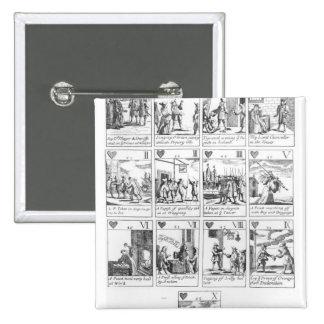 Anti-catholic playing cards commemorating pinback button