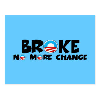 Anti change,anti Obama Postcard