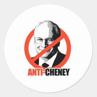 Anti-Cheney Classic Round Sticker