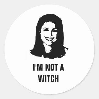 Anti- Christine O'Donnell Classic Round Sticker