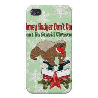 Anti-Christmas Honey Badger Case For iPhone 4