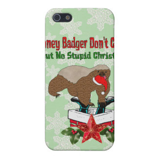 Anti-Christmas Honey Badger iPhone 5 Covers