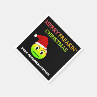 Anti-Christmas Merry Freakin Christmas Napkins