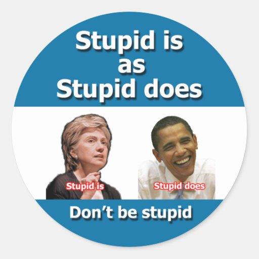 Anti Clinton Obama Stickers