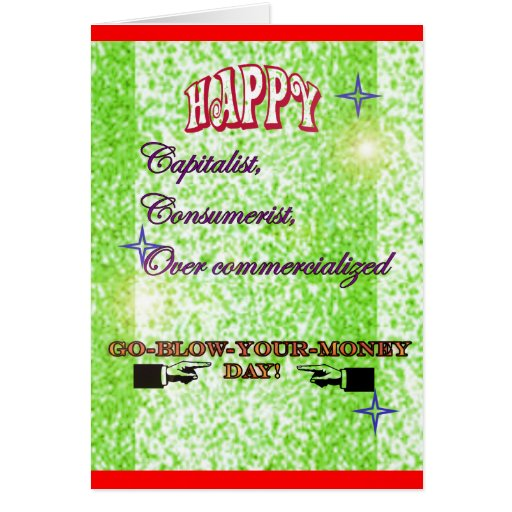 anti-commercial holiday cards