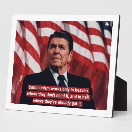 Anti-Comunismo de Ronald Reagan Placa
