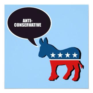 """Anti-Conservador Invitación 5.25"""" X 5.25"""""""