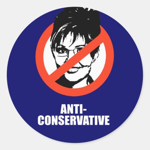 Anti-Conservador Pegatinas Redondas