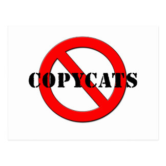 Anti Copycats Postcard
