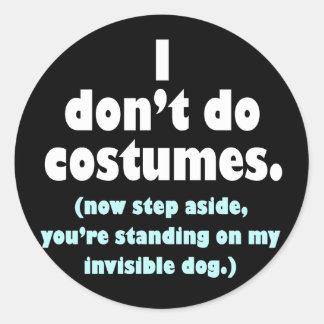 Anti-Costume Halloween Stickers