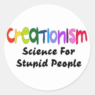 Anti-Creacionismo Pegatina Redonda