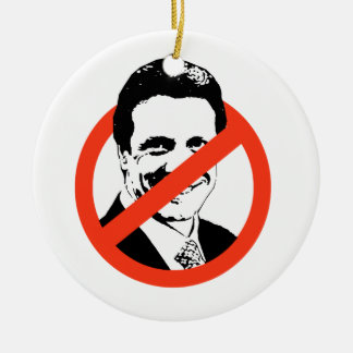 ANTI-CUOMO - Double-Sided CERAMIC ROUND CHRISTMAS ORNAMENT