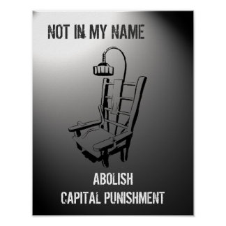 Anti Death Penalty Poster Print