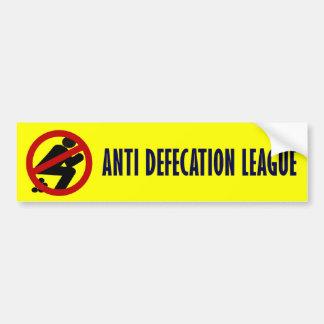 Anti Defecation League Car Bumper Sticker
